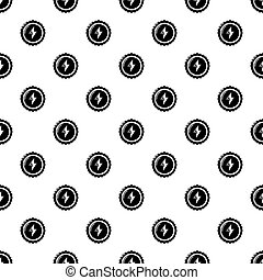 Energy drink bottle cap pattern seamless