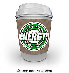 Energy Drink Coffee Caffeine Cup Beverage Power Strength