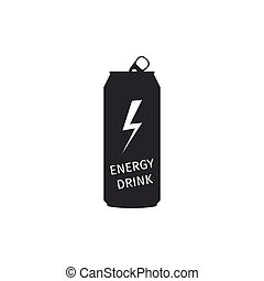 Energy drink icon isolated. Flat design. Vector Illustration