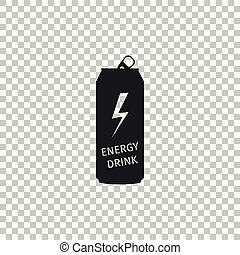 Energy drink icon isolated on transparent background. Flat design. Vector Illustration