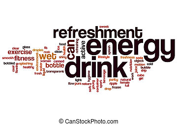 Energy drink word cloud concept