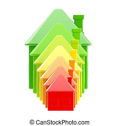 Energy efficiency as a house bar graph - Energy efficiency...
