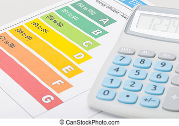 Energy efficiency chart with calculator
