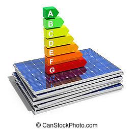 Energy efficiency concept - Creative abstract energy...