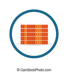 Energy Efficiency equipment installation cost. Vector icon.