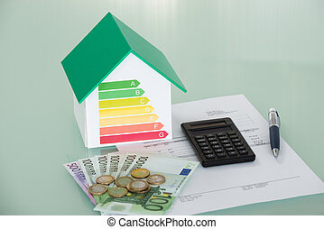 Energy Efficiency Rate With Invoice And Currency
