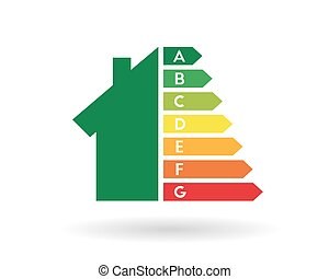 Energy efficiency rating and home improvement concept