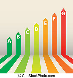 Energy Efficiency Rating - detailed illustration of an ...