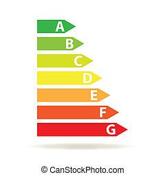 energy efficiency rating (vector)
