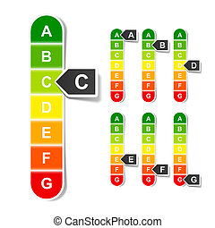 Energy efficiency rating - Vector illustration