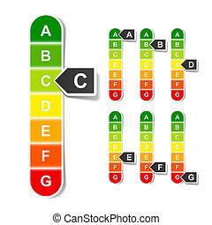 Energy efficiency rating - Vector illustration