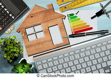 Energy Efficiency Rating - Wooden House Model