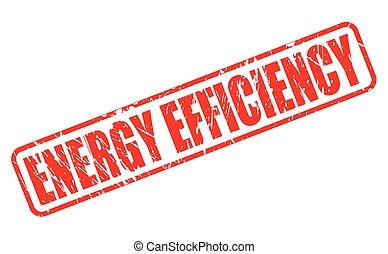 ENERGY EFFICIENCY red stamp text on white