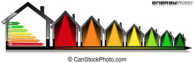 Energy Efficiency - Symbol in the Shape of Houses