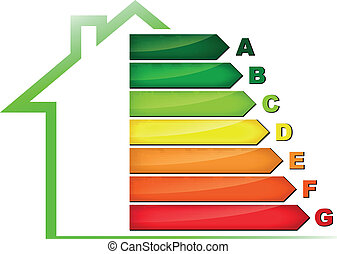 Energy efficiency symbol - Vector illustration of energy...