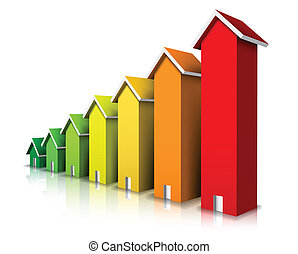 Vector illustration of energy efficiency rating.