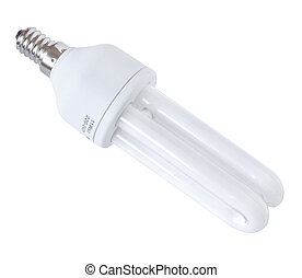Energy efficient bulb isolated on white background