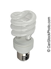 energy-efficient bulb separately on a white background