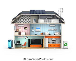 Energy efficient Home concept