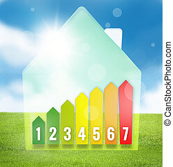 Energy Efficient House Scale Silhouette
