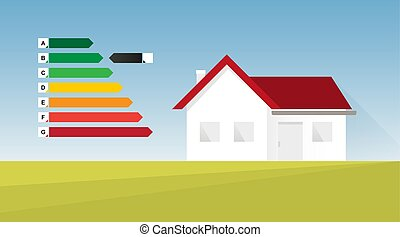 Energy efficient house vector illustration