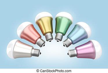 Energy efficient LED light bulbs