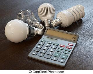 Energy expenses concept