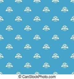 Energy explosion pattern vector seamless blue