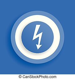 energy flash vector blue icon