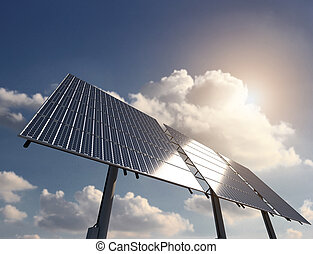 Energy from Sun with Solar Panel