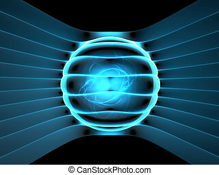 Energy generator concept abstract illustration