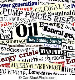 Energy headlines tile - Seamless tile of energy headlines