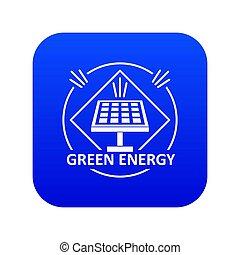 Energy icon blue