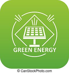 Energy icon green vector