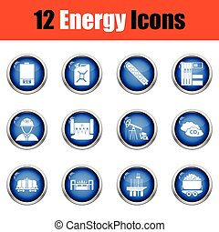 Energy icon set.