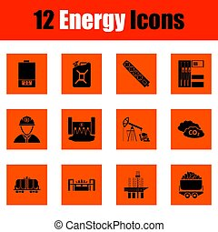 Energy icon set