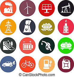 Energy icons in color