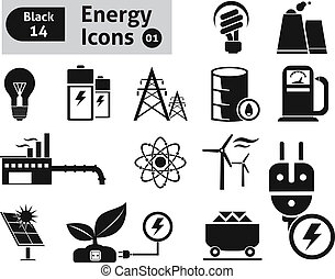 Energy icons. Vector set for you design