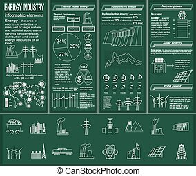 Energy infographics - Fuel and energy industry infographic,...