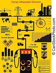 Energy Infographics - Vector set of infographic elements, ...