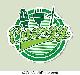 energy label over green background vector illustration