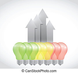 energy light bulb graph illustration design