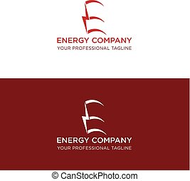 energy logo design letter e