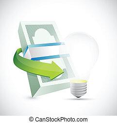 energy money concept illustration design