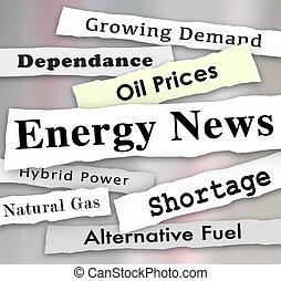 Energy News Media Headlines Urgent Power Announcement Updates