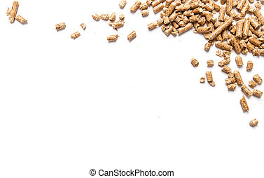 Pellets - Energy. Pellets on the table