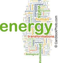 energy physics background concept