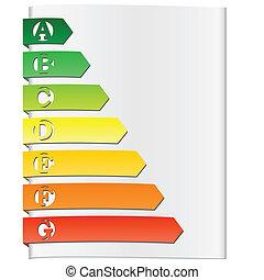energy rating elements vector illustration
