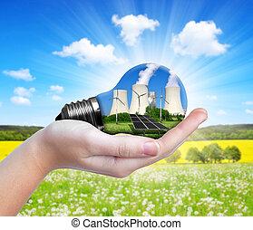Energy resources concept.