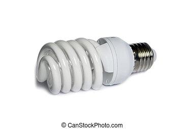 Energy-saved lamp isolated on white